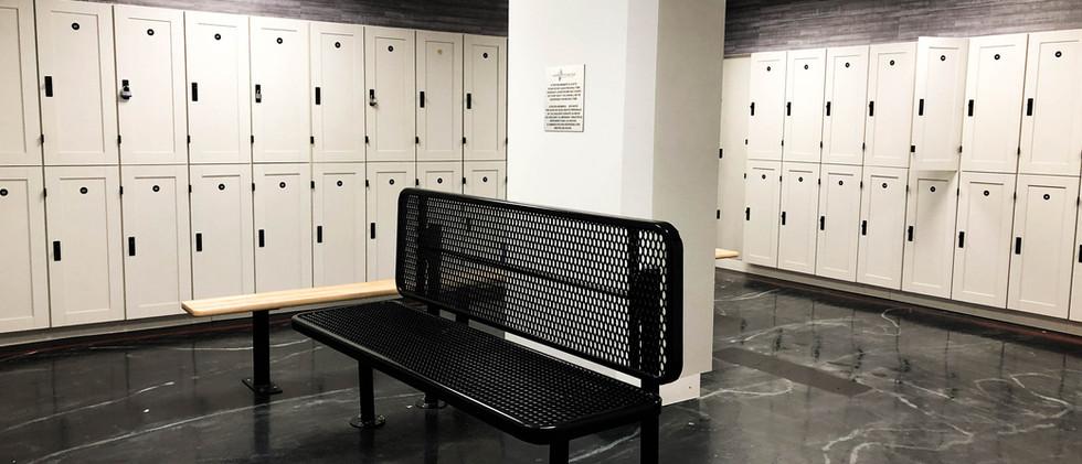 Luxury locker room
