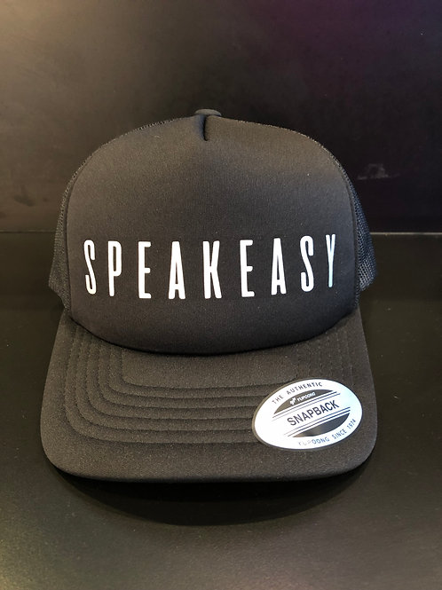 Speakeasy Black Snapback Hat