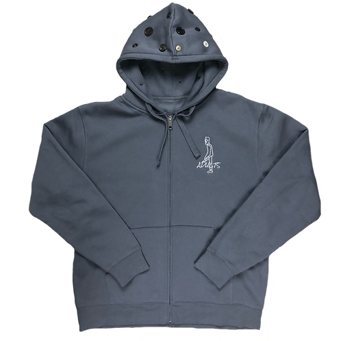 button hoodie front