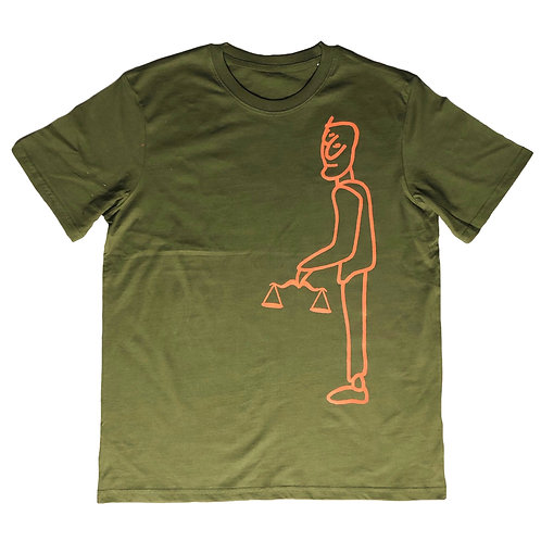 "The ""Eco"" Tee Khaki / Burnt Orange"