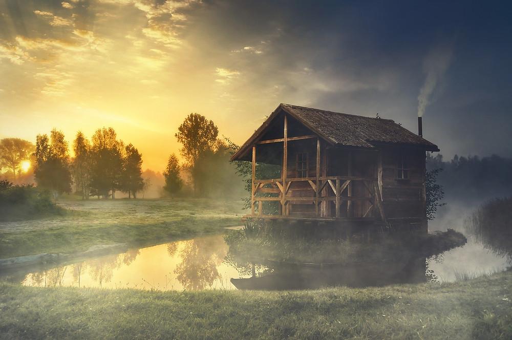 solitary cabin