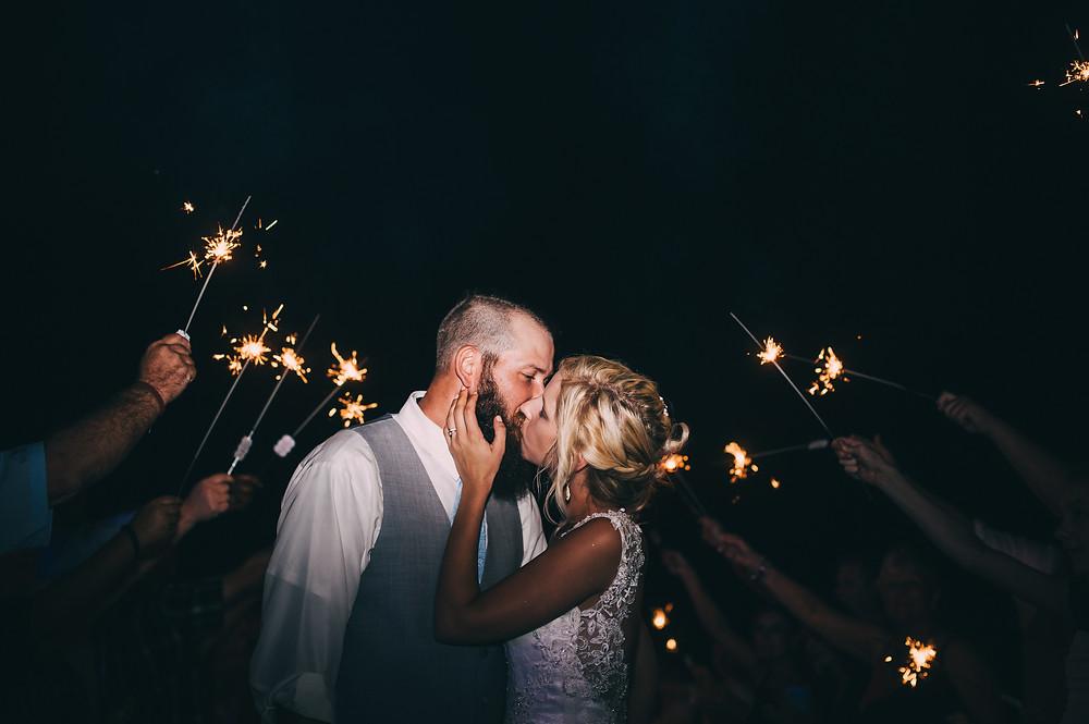WEDDING PHOTOGRAPHER CHARLESTON SAVANNAH SPARKLER EXIT