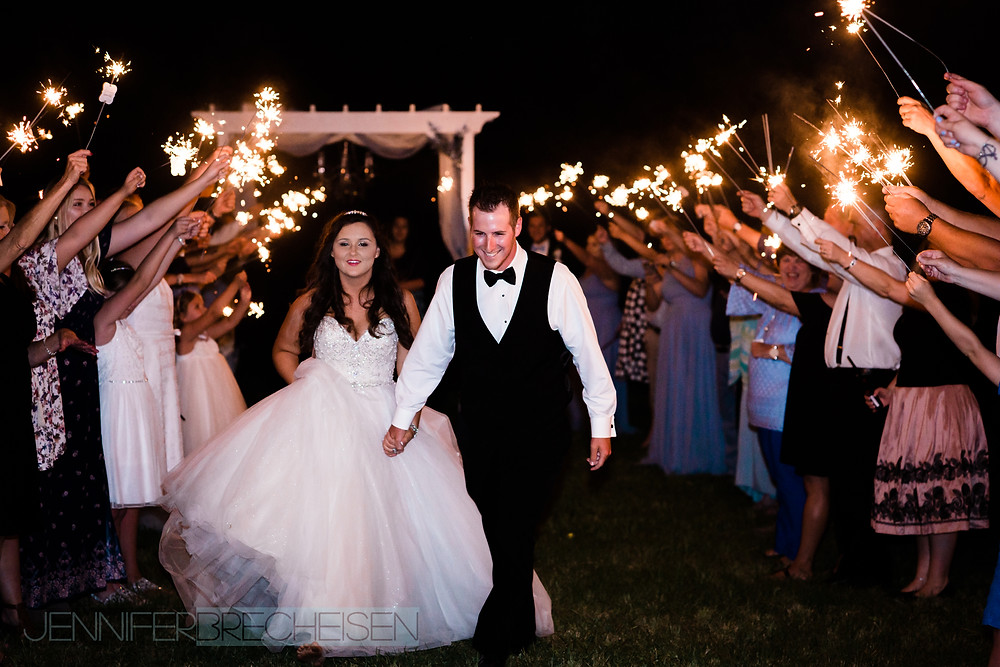 WEDDING PHOTOGRAPHER LAKE WYLIE ASHEVILLE SPARKLER EXIT BEST