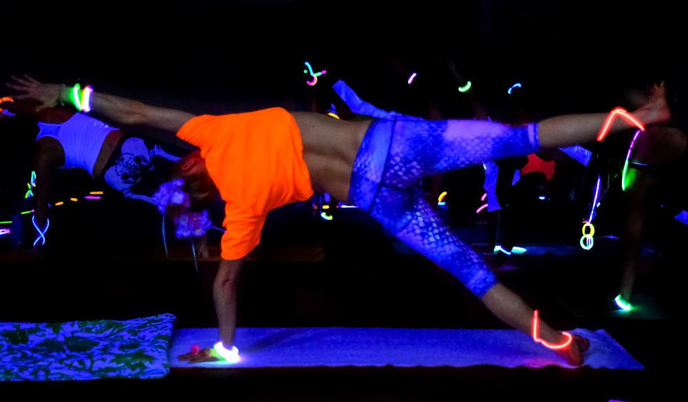 Glow Yoga taken by Jennifer Brecheisen Photographer Rock Hill SC