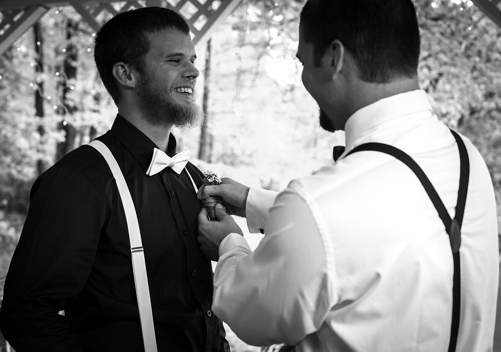 Brothers by Jennifer Brecheisen, Wedding Photographer Rock Hill SC.