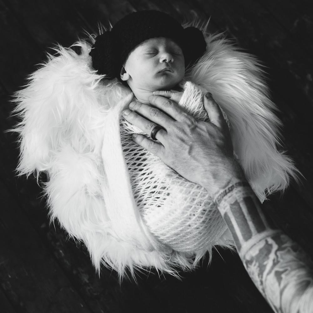 princess leia newborn start wars photo