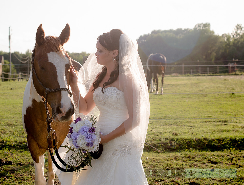 Bride and Horse photographer chester sc