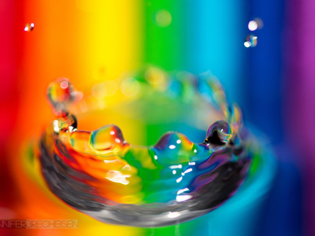 Rainbow Water Droplets-How To