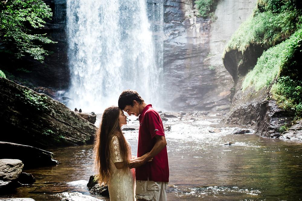 Looking Glass Falls Asheville Aspen Engagement Wedding Photographer Photography Fine Art Adventure Destination mountain