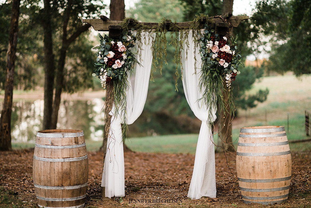 fall wedding decor wedding arbor