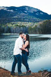 Taylor and Brandon had their 1 year Wedding Anniversary pictures at Table Rock State Park, SC by Wedding Photographer Jennifer Brecheisen, who serves Asheville, Greenville, Atlanta, Savannah, Boone, Atlanta, Charlotte, Charleston, Rock Hill, and Fort Mill locally. She is also a Fine Art Destination Wedding and Engagement Photographer traveling to Aspen, Telluride, Alaska, LA, Santa Monica, Jackson Hole, and Panama City Beach.