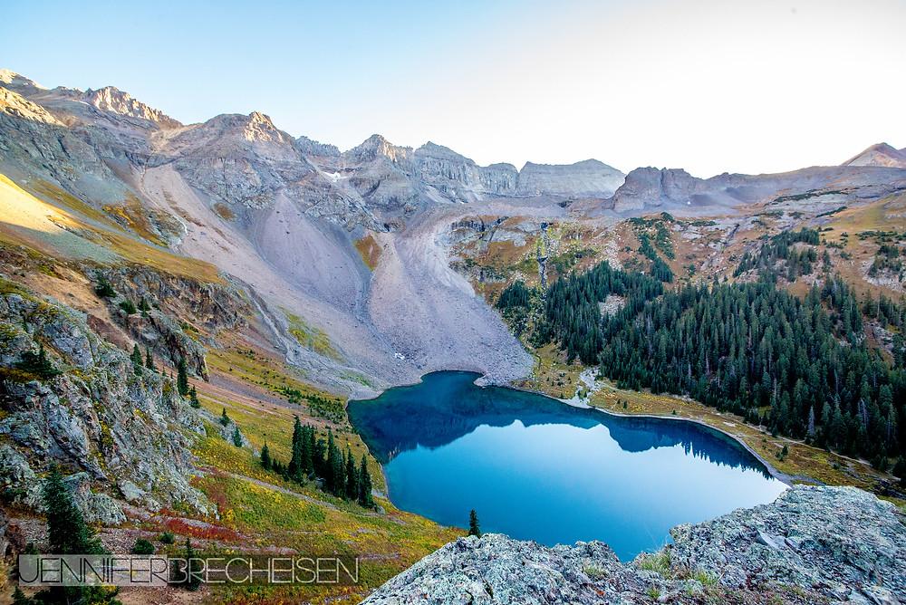 Mt. Sneffels photographer Rock Hill SC Lower Blue Lake September 2015