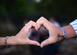 heart hand 5x7