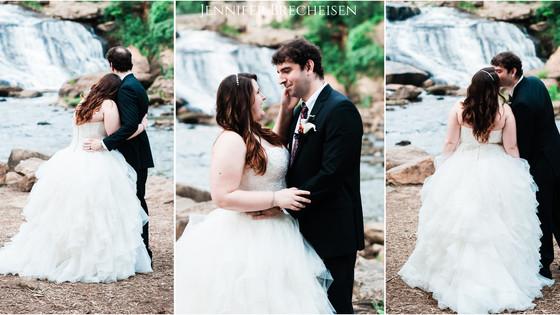 Fall's Park Greenville, SC Wedding Photography Images | Jordan + David |