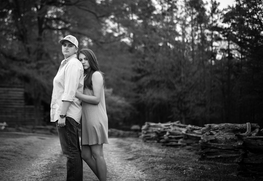 Taylor and Bridgett in King's Mountain NC taken by Jennifer Brecheisen, Photographer Rock Hill SC