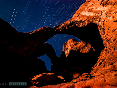 Star Trails over Arches NP-Behind the Scenes