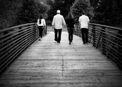 Family walk bnw