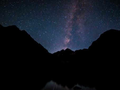 The Milky Way Over Maroon Bells in Colorado
