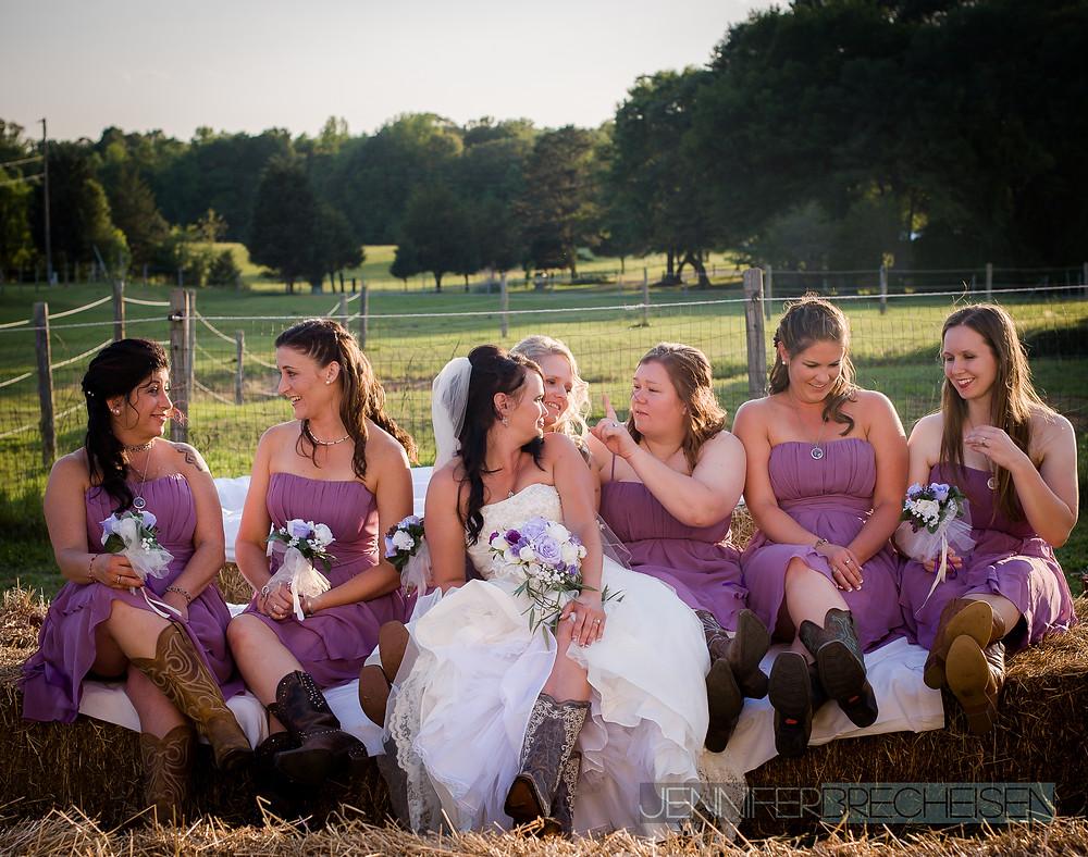 southern chic wedding beautiful bridesmaids rock hill sc