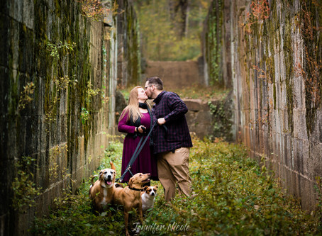 Maribeth + Taylor's Awesome Landsford Canal Engagement Session | Rock Hill, SC Wedding Photographers