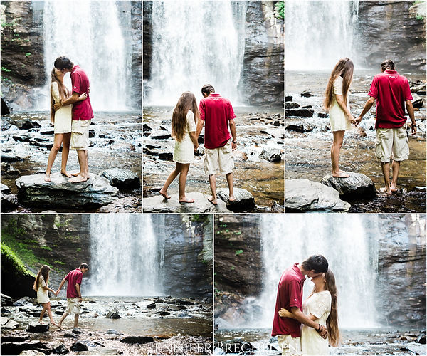 Asheville Looking Glass Falls Engagement Wedding Photographer photography