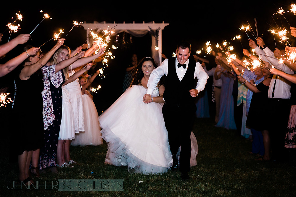 wedding photographer charlotte nc sparkler exit