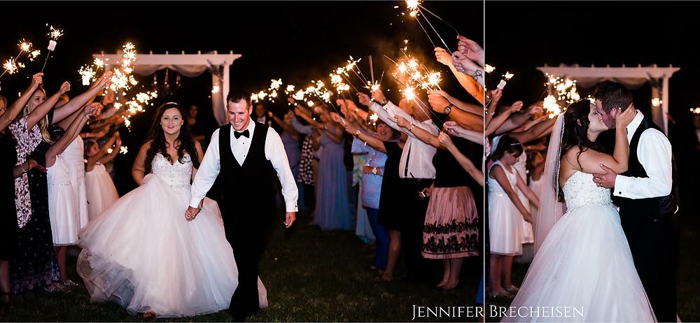 wedding photographer greenville charleston sparkler exit how to tips
