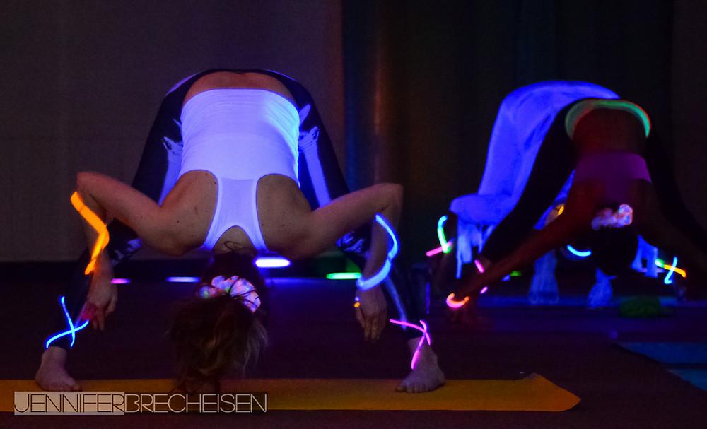 Glow Yoga Image taken by Jennifer Brecheisen, Photographer Rock Hill SC, for The Yoga Oasis.  Shift Happens Fundraiser.