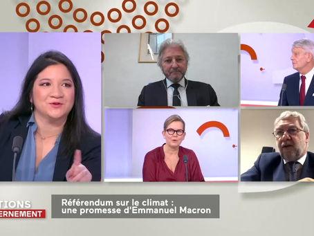 Intervention Public Sénat : Le referendum climat est-il nécessaire ?