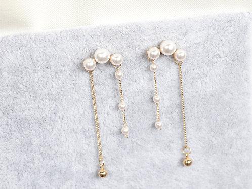 Pearl Double Drops Earrings