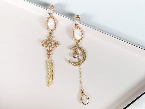 Gold Celestial Drop Earrings