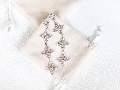 Sliver Diamante Stars Earrings