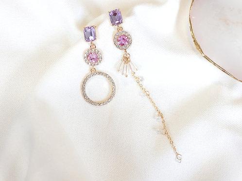 Lavender Halo Drop Earrings