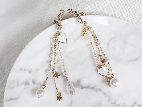 Gem Heart Earrings