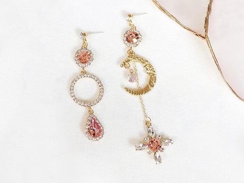 Moon Cross Earrings