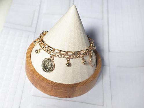 Double Coin chain Bracelet