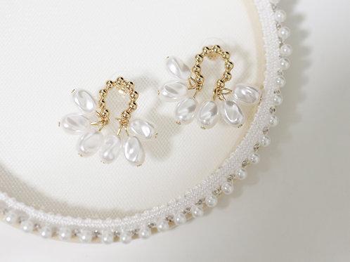 Multi Pearl Drop Earrings