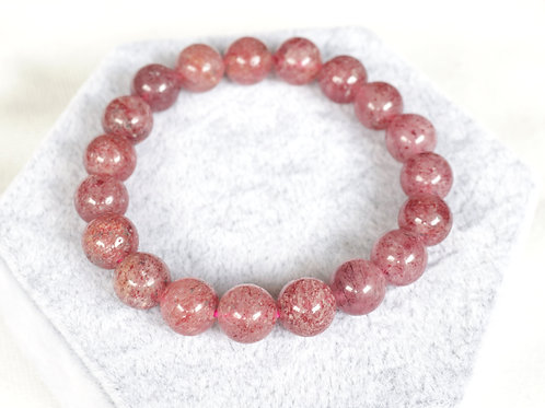 Strawberry Quartz Bracelets 10mm