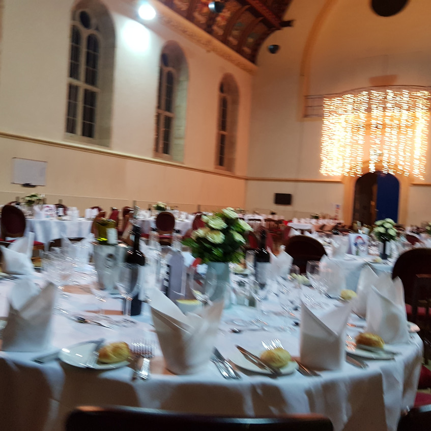 setting up for the half term ball