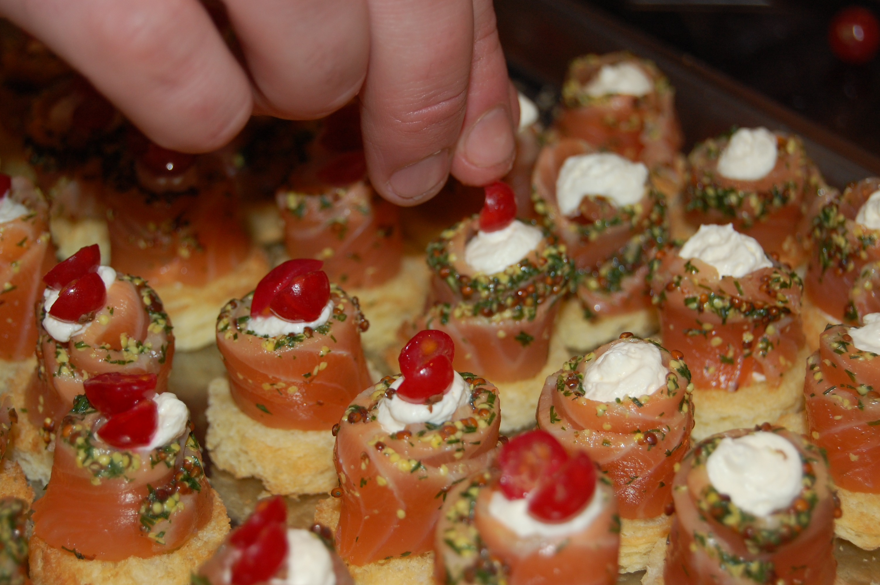 Salmon Canape Finishing touch