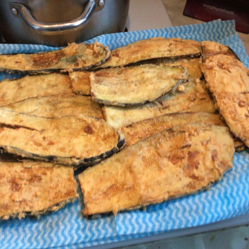 deep fried aubergine