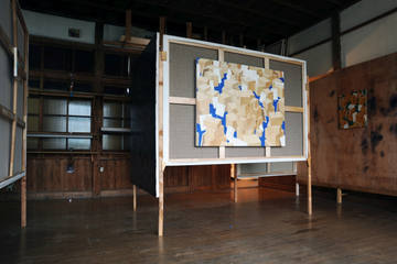 installation view at the Takino open studio exhibition 2014
