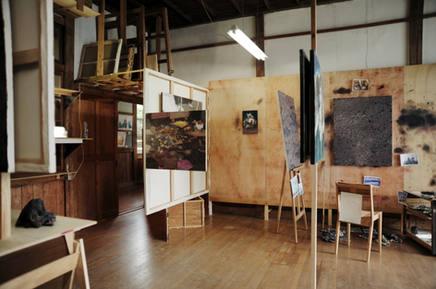 installation view at the Takino open studio exhibition 2013