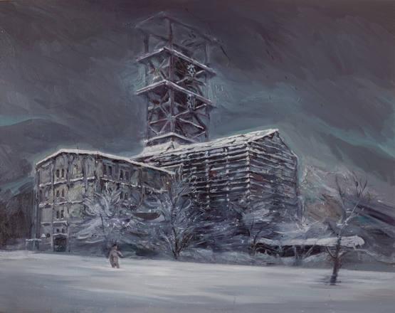 洋風の人 - 奔別炭鉱立坑 western style man - Ponbetsu Coal Mine Shaft