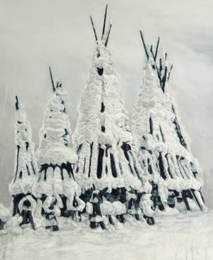 雪囲い|Snow fence