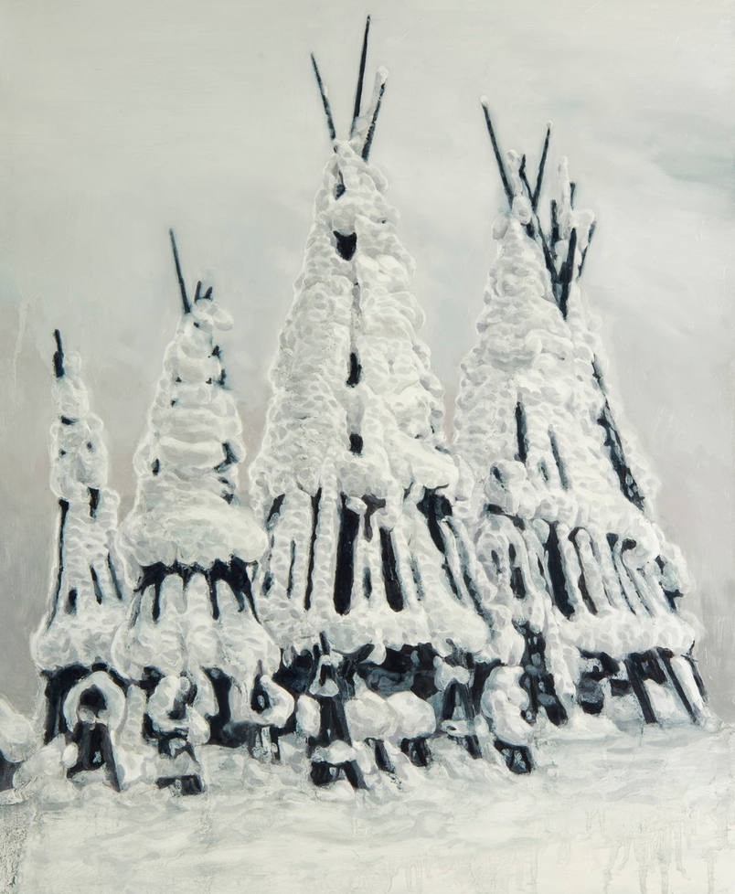 雪囲い  snow fence