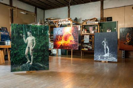 installation view at the Takino open studio exhibition 2017