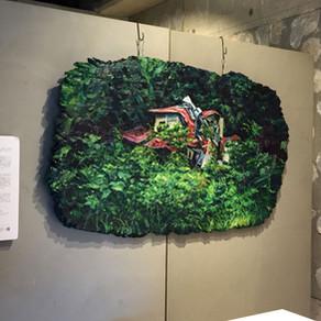 『giinika』の創刊記念展「ザワザワする作家たち」に新しい作品を展示