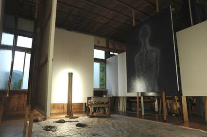 installation view at the Takino open studio exhibition 2015