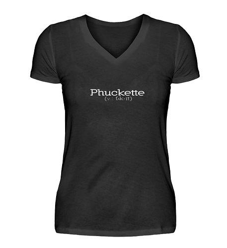Phuckette Women's V-Neck T-Shirt